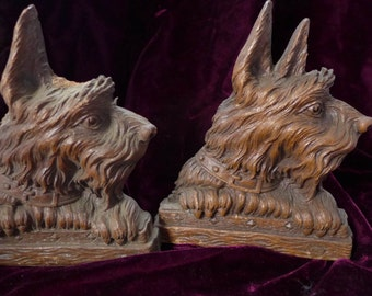 Scotty Scottish Terrier Books Ends Syrocco Syracuse As-Is 1950s Ear Missing