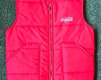 1970s Chalk Line Coca Cola Puffy Vest Size M