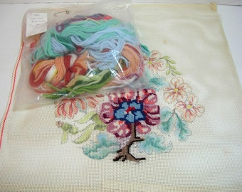 Vintage Floral Needlepoint Kit