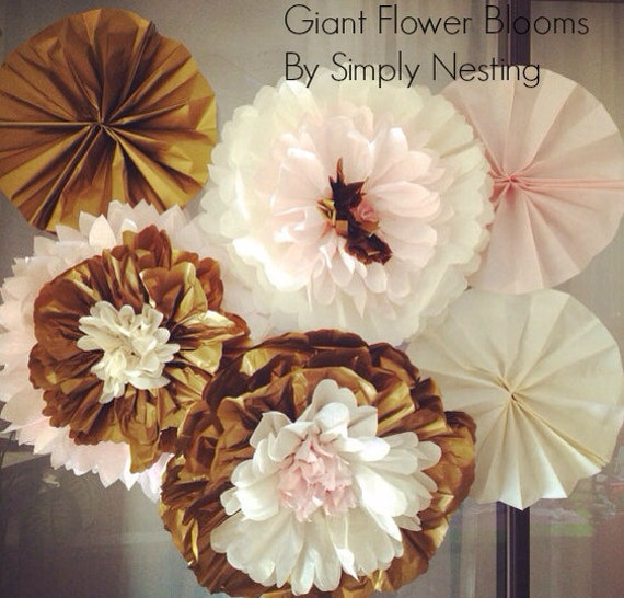 Mothers day decor giant flower blooms tissue paper pom mightylinksfo