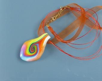 Fimo, Murano swirl pendant