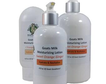 Lotion, Orange Ginger Lotion, Goat Milk Lotion, Citrus Lotion,