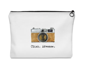 Retro 35 Mm Cameras Carry All Pouch  Flat