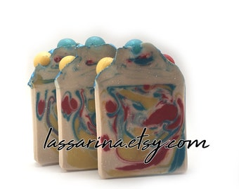 Blue Hawaiian -Handcrafted Soap, Artisan Bar Soap, Handmade Soap, Cold Process Soap, Soaps, Handmade in Florida -Boysenberry Soaps