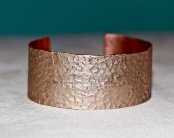 Personalized Anniversary Hammered Copper Bracelet For Her - Personalized Hammered Copper Cuff Bracelet - Unique Copper Bracelet For Her