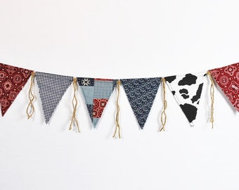COWBOY/WESTERN Pennant Birthday Banner-Cowboy Theme-Banners-Cowboy/Farm/Rodeo/Country Birthday Banner-Custom Banners-Party Banner
