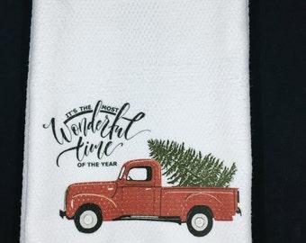 Christmas 2018 ~ Christmas Gift ~ Christmas Dish Towel ~ Printed Dish Towel ~ Kitchen Hand Towel ~ Custom Dish Towel ~ Dish Towel