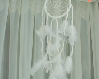 Dreamcatcher Feathers White Romantic Cottage Chic