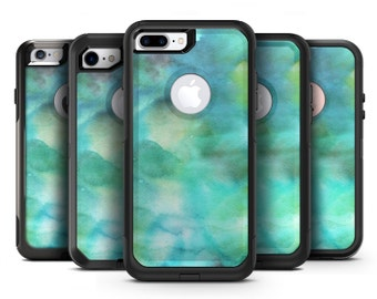 Green 979 Absorbed Watercolor Texture - OtterBox Case Skin-Kit for the iPhone, Galaxy & More