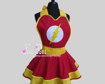 The Flash Inspired Cosplay Apron