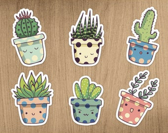 Succulent sticker pack