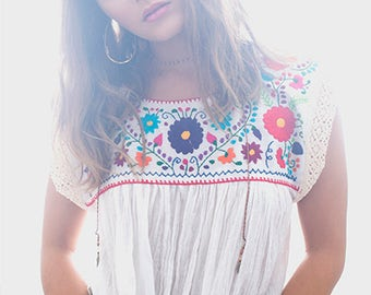 Embroidered Mexican Blouse Eli