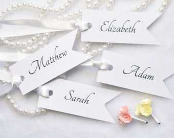 Wedding FAVOR TAGS, wedding names tags, wedding thank you tags, tags for wedding, bride and groom tags,set of 10 tags