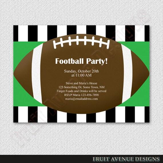 Digital Football Party Invitation Football Birthday Party
