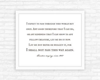 Personalized Graduation Gift for her, farmhouse style print, I shall not pass this way again