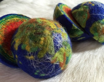 1 XL 65 mm GEODE EARTH Ball 2.5 inch diameter - sliced open at the Equator Line