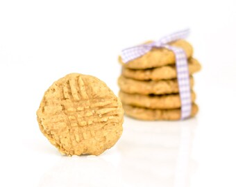 All Natural Nutty Peanut Buddy Cookie dog treats with Peanut Butter and Oatmeal