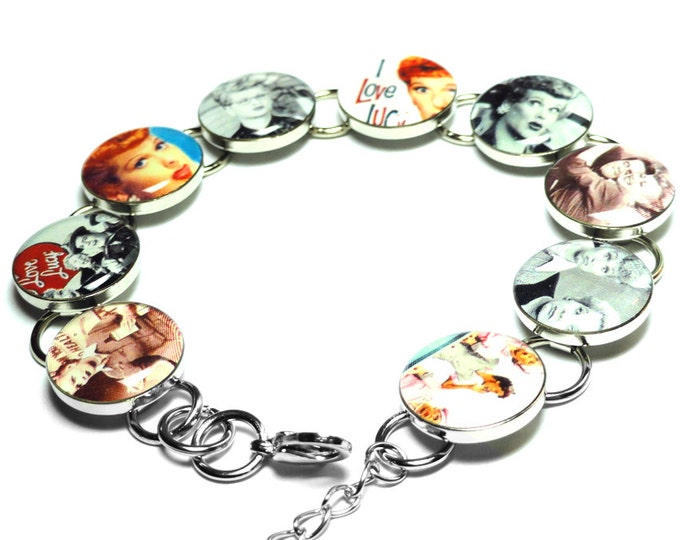 I Love Lucy Bracelet, Mothers Day Gift, Handmade Bracelet, Retro, Resin Bracelet, Handmade, Resin, I Love Lucy, Lucille Ball, Gifts for her