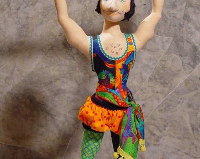"BS323E - Samson, 22"" Male Cloth Doll Pattern -  PDF Download Sewing Pattern by Barbara Schoenoff"