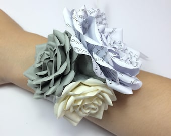 Wrist corsage, wedding corsage, bridesmaid corsage, mother of the bride corsage, wedding flowers, prom corsage