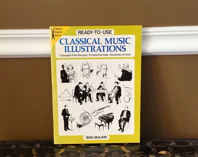 CLASSICAL MUSIC Illustrations Clip Art Ready To Use DOVER Clip-Art Series