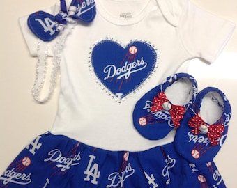 LA Dodgers Inspired Baby Coming-Home Outfit