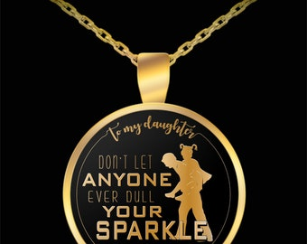 To my daughter - you may have grown like your mother but in my heart, you will always be my little princess - best necklace for your lovi...