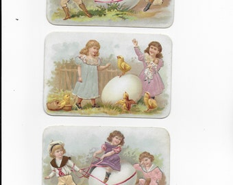 antique chromo download, children and Easter eggs, old chromo to download, children and Easter eggs