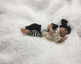 """4.5"""" parial sculpt posable clay baby by TinyToesStudio"""