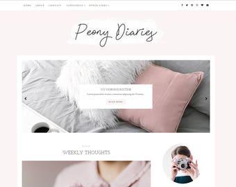 Blogger Template - Premade Blog Templates - Responsive - Blog Theme - Blogger Templates - Blogspot - Feminine - Fashion Blog