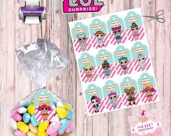 L.O.L Surprise Thank you Tags- Instant Download!