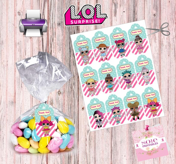 L O L Surprise Thank You Tags Instant Download