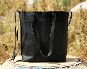 Sale!!! Crossbody tote leather tote crossbody Large leather market bag, Leather shopper bag, Leather tote bag, leather purse, Monogramed