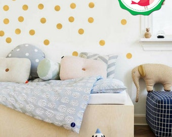 Gold Polka Dots Wall Decals 90 pcs, Polka Dot Wall Decals, Gold Polka Dots, Gold Dot Wall Decals, Dots Wall Decal, Gold Dots Stickers