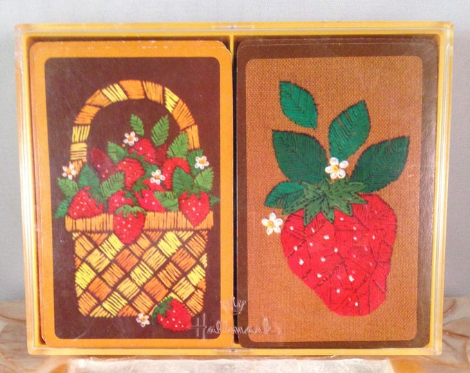 "Playing Cards: Hallmark ""Strawberry Patch"" (Bridge)"