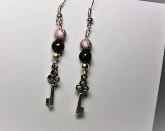 key charm earring