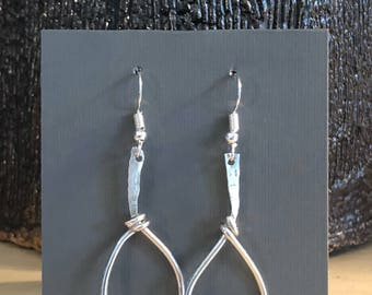 Sterling Silver Hoops and Knots