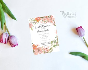 Bridal Shower Invitation, Bridal Shower Invite, Printable Bridal Shower Invitation, DIY Bridal Shower Invite, Floral Bridal Shower Invite