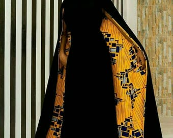 African Dress With Cape/African Dress Prom/African Print Dress/African Clothing/African Dress/Kitenge/African Dresses for Women/Ankara Dress