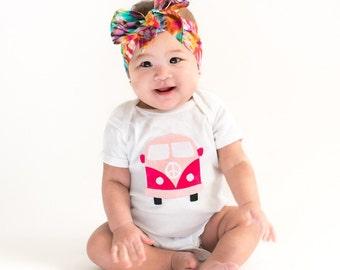 Grateful Dead, Deadhead baby, Hippie Baby Clothes, VW bus bodysuit, Volkswagen bus, Hippy Baby, Phish Baby Clothes, Baby Boy Clothes, Girl