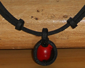 handcrafted Indian necklace energy Wayruro force Leather chain shaman amulet