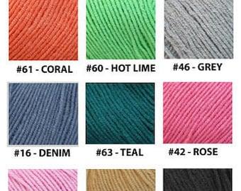 Yarn - Yarn Art Jeans - Grey, Rose, Wine, Teal or Denim