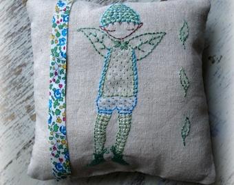 Blue pixie  boy hand embroidery pattern PDF