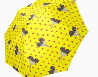 Made to Order (Ships in 4 weeks)  Mickey Mouse Rice Crispy Inspired Umbrella
