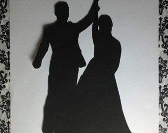 Bride and Groom Custom Silhouette from Picture