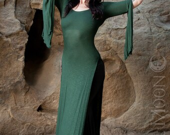 RESTOCKED: The Forest Green Panel Dress by Opal MoonDesigns (Sizes XS- 3XL) Plus Size Available