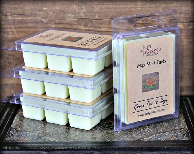 GREEN TEA & SAGE | Wax Melt Tart | Sassy Kandle Co.