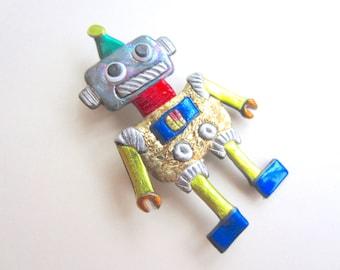 Little Frankenbot Monster Robot Pin Brooch