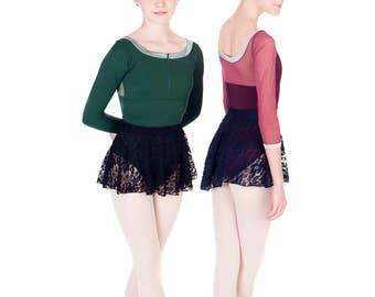 Leotard - ARABESQUE Leotard with Mesh - Custom Designed Dance Wear by Dancer.NYC
