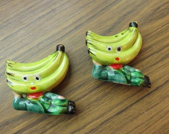Vintage Banana People Salt and Pepper Shakers with Bodies Japan